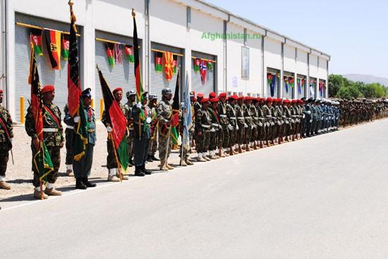 Церемония передачи ответственности за безопасность в Мазари-Шарифе