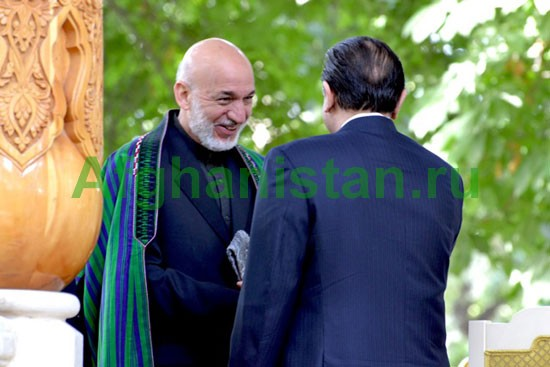 Встреча президентов Афганистана, Таджикистана, России и Пакистана в Душанбе