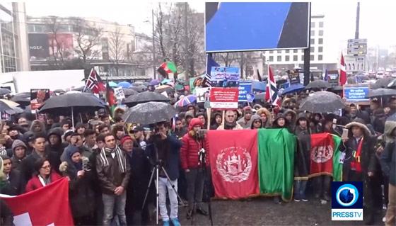 Афганцы провели оппозиционную акцию протеста в составе антинатовской демонстрации в Мюнхене