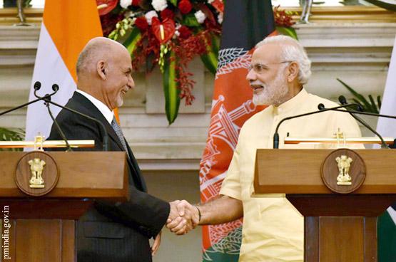 Ашраф Гани в Индии