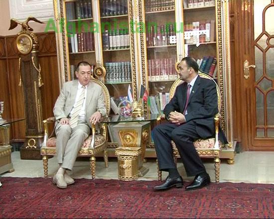 Встреча посла России в ИРА с губернатором Балха