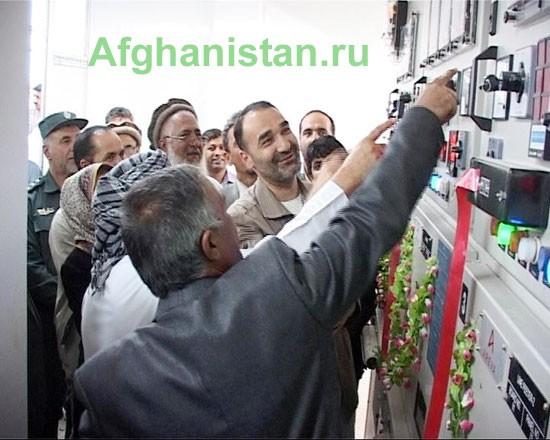 Открытие электроподстанции в Балхе